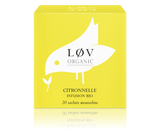 ORGANIC LEMONGRASS LEAVES An infusion with an intense lemony taste. Perfect to savour all day long for its thist-quenching and soothing properties.  Ingredients: Lemongrass*. * Organically grown ingredients  Theine free  Infusion time 6 min  Infusion temperature 95°C  INGREDIENTS  Organic Lemongrass