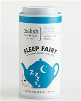 FOR THE SWEET DREAMER INSIDE OF YOU!   Tired of counting sheep?  Brewing a cup of hot tea before bed is a sure way to unwind after a long day. Packed with soothing superstars chamomile and lavender, this tea will help you feel at ease and get you into ultimate relaxation mode. So drink up and show those sheep who's boss. .   Part of  Love Yourself Wellness Tea Collection - great tasting, soul soothing and delightfully satisfying! .   Tin contains 90g of loose leaf tea.     BREWING INSTRUCTIONS: This tea is best steeped in boiling water. 1 tsp per 6-8oz cup. Steep 4-6 min.   INGREDIENTS: Lemongrass, apple bits, vervain, green rooibos, chamomile, lavender, orange pieces, flavoring, vanilla bits.