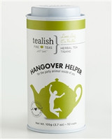 FOR THE PARTY ANIMAL INSIDE OF YOU!   Have one too many last night?  We know how that can be, and it hurts! Rejuvenate and re-hydrate your aching body with this soothing herbal blend. It might not erase your epic performance last night, but it might just help you get through the day in one piece. So remember, after too much boozing, start infusing! .   Part of  Love Yourself Wellness Tea Collection - great tasting, soul soothing and delightfully satisfying! .   Tin contains 105g of loose leaf tea.     BREWING INSTRUCTIONS: This tea is best steeped with boiling water. 1 tsp per 6-8oz cup. Steep 4-6 min.   INGREDIENTS: Rooibos, cinnamon, ginger bits, cardamom, cloves, fennel, flavoring, aniseed.