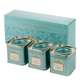 Selected from Fortnum's Classic World Tea range, these three miniature tins are filled with excellent and classic teas, namely Assam Superb, Darjeeling BOP and Ceylon Orange Pekoe. Beautifully presented, their fragrant notes and warming flavours will be the perfect present for any occasion.