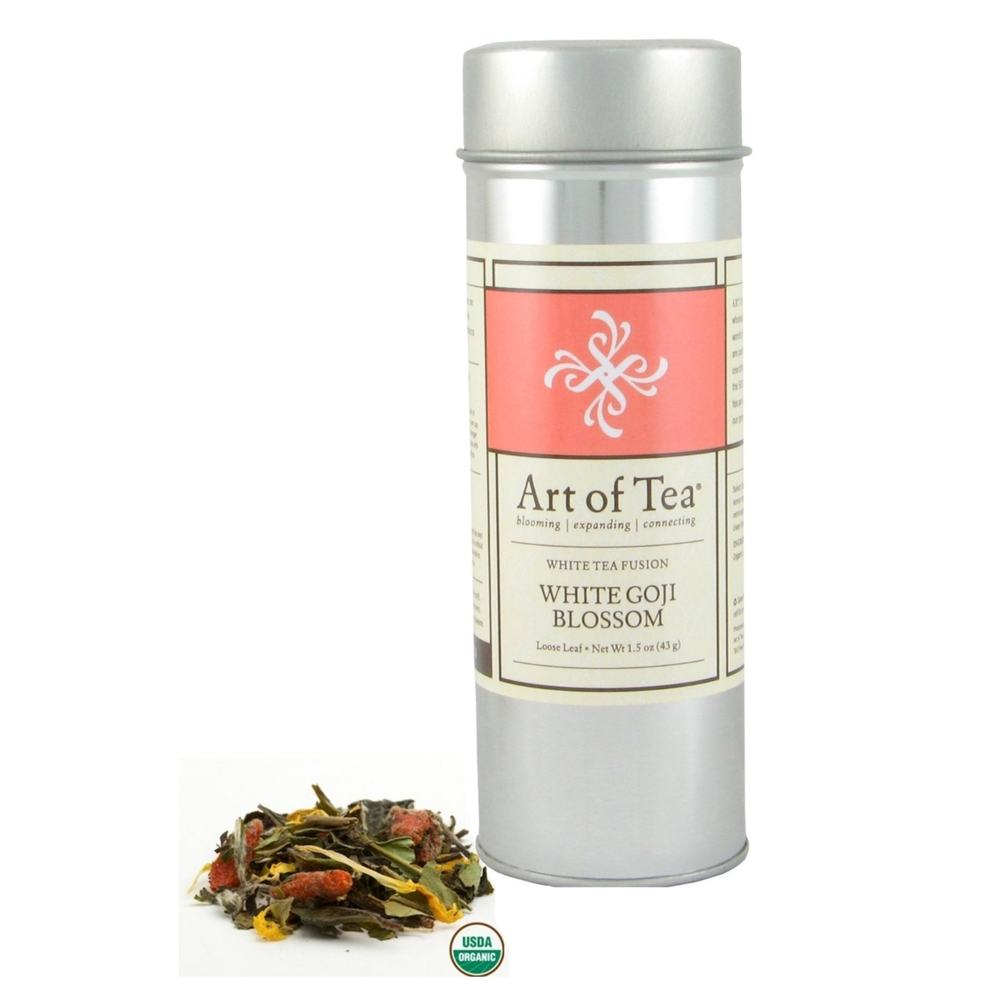 Art Of Tea Organic White Goji Blossom White Loose Leaf Tea