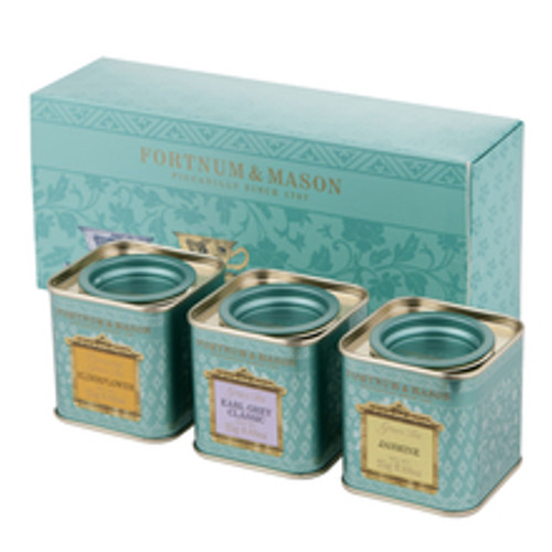For those who enjoy a refreshing cup of green tea, this appealing gift set includes three of our best green teas in miniature tins: Green Jasmine, Green Earl Grey and Green Tea with Elderflower.