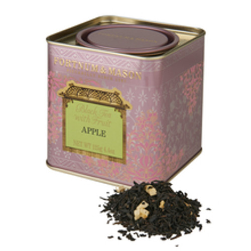 This is a warmly refreshing drink made with predominantly China black tea flavoured with the most English of fruits. Both sweet and tangy, this wonderful Fortnum's black tea infused with crisp apple is ideally served at any time of day.   INGREDIENTS  Black Tea, Apple Pieces (5%), Apple Flavouring.