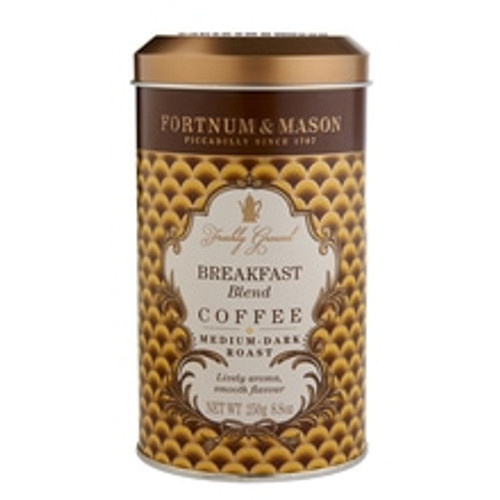 Made from a blend of Fortnum's most popular Central American coffees with a subtle touch of Colombian, this full-flavoured, fruity coffee is lively enough to start the day or to wake up any breakfast.   When to drink:  Early morning & breakfast   Origin:  Guatemala, Costa Rica, Colombia   Brewing guide:  Best for use in cafetières and filter methods. Brew at a ratio of 55-60g of coffee per litre of water for best results.