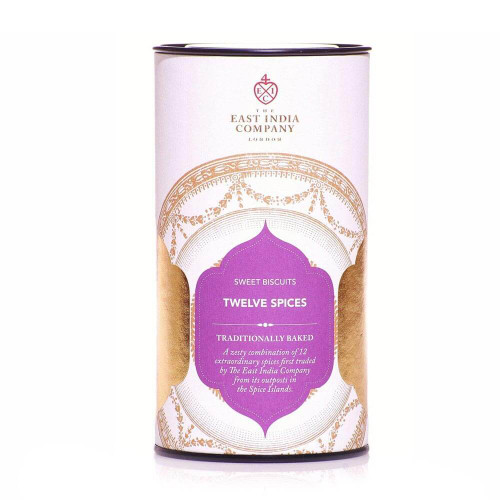 Experience the warmth of faraway lands with this blend of cloves, spicy cinnamon and nutmeg leaves. An exotic take on the classic ginger biscuit, this remarkable treat is best enjoyed with a cup of our Vanilla Tea, or a full-bodied black tea like  Royal Breakfast.    Ingredients: Wheat Flour, Sugar, Partially Inverted Refiners Syrup, Salted Butter (Milk), Eggs, Mixed Spice (2%) (Coriander, Cassia, Cinnamon, Mustard, Caraway, Dill, Fennel, Ginger, Clove, Turmeric, Pimento), Nutmeg (1%), Raising Agent: Sodium Bicarbonate; Salt, Vegetable Oils (Vegetable Oils & Fats, Water, Salt, Natural Vegetable Colours: Annatto, Curcumin, Flavourings)  Allergens: Manufactured in a bakery that handles nuts & sesame seeds. Contains wheat, milk, gluten, egg and mustard.     Nutrition: Typical values 100g – Energy 1939kj/463kcal   Fat 16.8g, of which saturates 10.8g   Carbohydrate 72.5g, of which sugars 41.6g   Protein 5.1g   Salt 0.3g  Storage: Store cool and dry. Avoid sunlight and strong odours.