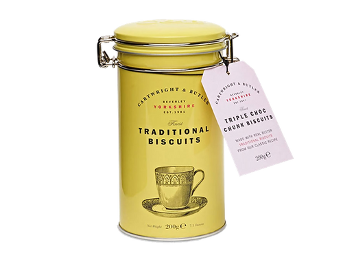 These delicious, luxury biscuits are versatile enough for every occasion from elevenses to after dinner.  Presented in a beautiful, reusable gift tin with a kilner style lid.