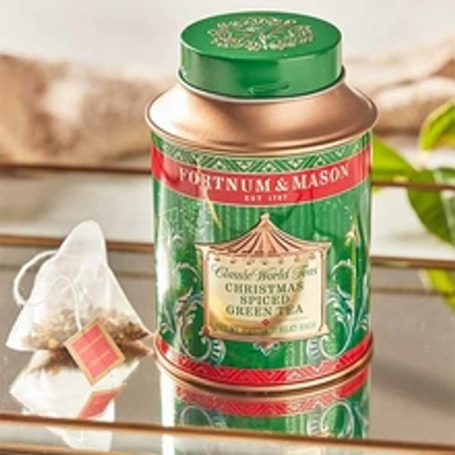 Created especially for Christmas, our gently warming blend of green tea, star anise, liquorice, coconut and a hint of vanilla is a festive treat that can be enjoyed by a crackling fire at any time of day.  This tin contains 20 silky teabags.