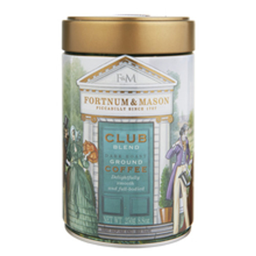 Created in the 19th century by our Gentleman's Club department, when it was supplied to private clubs all over London, Fortnum's Club Blend has now been updated for a modern audience. Sourced from the very finest producers, this dark roasted blend is delightfully smooth and full-bodied, with a sumptuous dark chocolate and malty finish.   When to drink:  Excellent for all-day drinking, or as an outstanding, full-flavoured, after-dinner coffee.   Origin:  India, Sumatra, Brazil   Brewing guide:  Best for use in cafetieres, and filter methods. Brew at a ratio of 55-60g of coffee per litre of water for best results.