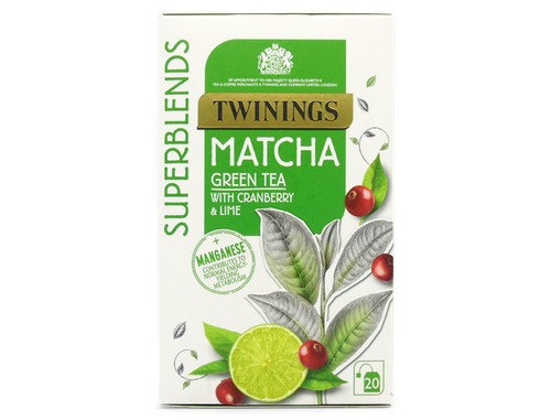 Cranberry & Lime flavoured Green Tea with Matcha and added Manganese.  Manganese contributes to normal energy-yielding metabolism.  Enjoy at least 1 cup a day as part of a varied, balanced diet and healthy lifestyle.  Matcha is an important part of Japanese culture, where the making and enjoying of Matcha takes centre stage.  We have created this juicy blend with the flavours of cranberry and lime and added manganese which contributes to normal energy-yielding metabolism to support your everyday wellbeing.  What does it taste like? We have carefully blended in the flavours of Cranberry & Lime to brighten, lift and soften the taste of Matcha in this blend.  It's juicy, fresh tasting and easy to drink.  Green Tea, Natural Cranberry Flavouring with other Natural Flavourings (8%), Matcha (2.5%), Natural Lime Flavouring (2%), Manganese (1%).  Suitable for Vegans