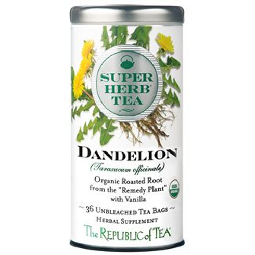 "As featured in Medical Daily's Diabetes Management: Top 7 Dandelion Teas To Help You Out  SUPERHERB® TEAS  Our Minister of Herbs continually searches the globe for ""wonder"" herbs unique in flavor and functionality. While unknown to the Western world, many herbs have been nutritional dynamos in the local region's daily diet for centuries whether for boosting performance, strength or longevity. Now, these SuperHerb Teas can be an easy part of your daily wellness regimen.  Tea for Peak Health  While this small, yellow flower dots meadows around the world, its roots are known as a powerhouse of healthy benefits.* Dandelion's use traces back to the 10th century when Arabian physicians revered the root for its cleansing properties and as a natural aid for digestion.* This certified organic Dandelion SuperHerb® Tea blends the roasted root with a touch of French vanilla, making each full-bodied cup a nice alternative to coffee.  FLAVOR PROFILE: VANILLA, BISCUIT, EARTHY"