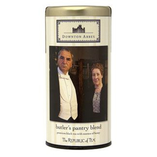 A base of robust black tea creates a standard that is softened with the essence of honey. This tea embodies both the strong, no-nonsense character of Mr. Carson and the sympathetic sweetness of Mrs. Hughes. Together, they create the harmonious balance needed to keep the manor in order.  Downton Abbey® – home to the aristocratic Crawley family and their servants – has entranced millions of viewers and become a modern media sensation encompassing an award winning television series, a touring exhibition, and now a feature film. From the pen of Academy Award® winner Julian Fellowes, Downton Abbey depicts the drama, relationships and intrigue at Downton through the tumultuous times of the early 20th century
