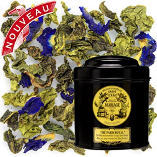 Ode to Paris, grand and royal city, this unique composition of smooth blue tea is expertly scented with a precious natural yuzu essential oil. The liquor seduces with its stimulating flavour and surprises with its magnificent indigo colour.