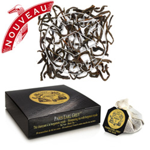 MARIAGE FRÈRES enriches its incredible Earl Grey tea collection with this new blend of shimmering black tea with delightfully zesty notes of royal bergamot.  Sensuous and elegant, PARIS EARL GREY® tea deliciously evokes the most indolent flâneries on the Parisians streets.