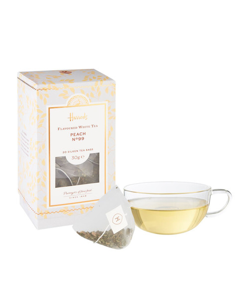 Harrods London No. 99 Peach Tea 20 Silken Tea Bags 50g