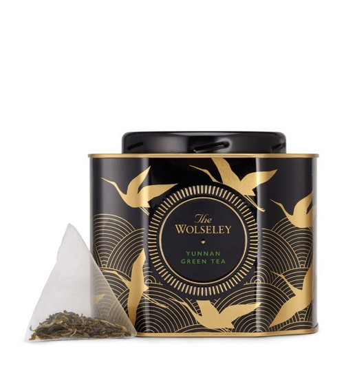 The Wolseley: Yunnan Green Tea 40g  20 tea bags  Ingredients Green tea  Allergen Information For allergens, please see ingredients in bold Suitable For Ovo Lacto Vegetarian Diabetics Lactose Intolerence Vegans Vegetarian  Nutritional Information Portion Size 2 g Energy - kJ - per 100g Energy - kcal - per 100g Fat (g) - per 100g Fat of which Saturated (g) - per 100g Carbohydrates (g) - per 100g Carbohydrates of which Sugars (g) - per 100g Fibre (g) - per 100g Protein (g) - per 100g Salt (g) - per 100g  Storage Information Store in a cool, dry place  Country of Origin China