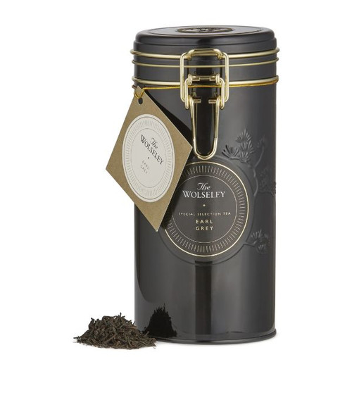 The Wolseley Earl Grey Loose Leaf tea 150g  Ingredients Loose Leaf Tea China Black with Bergamot Oil (Italy)  Allergen Information For allergens, please see ingredients in bold  Storage Information Store in a cool, dry place  Country of Origin United Kingdom