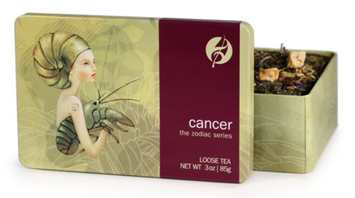 White and green tea infused with fruit flavors will become a staple in Cancer's well-stocked cupboard. Cancers love to maintain a comfortable home and serve their family after-dinner tea. The soothing blend of rose hips, chamomile and rooibos will calm Cancer's emotional side, while the cornflowers and marigold petals raise their cheerful spirits.  Steep at 180° for 2-3 minutes.