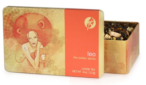 Oolong tea mixed with rooibos and orange peels boosts Leo's self-confidence and sunny disposition. Leos are at the center of every tea party, entertaining the crowd with their creative charms. Chamomile and vanilla smooth this zesty blend, while the red safflower is an eye-popping touch of color that Leos can show off to their friends.  Steep at 212° for 3-5 minutes.