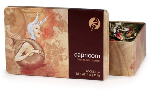 Black and white tea mixed with coconut is the practical choice for giving Capricorn a serious dose of focus and flavor. Capricorns work hard and need a smooth yet strong tea to get them through long nights at work. Vanilla and rose petals are a classic combination of flavors that Capricorns can depend on.  Steep at 212° for 3-5 minutes.