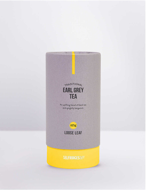 """From Selfridges Selection, our Earl Grey loose leaf tea contains a blend of China Black tea with rich, citrus Bergamot for an exquisite and uplifting drinking experience.""   Selfridges Says"