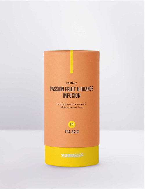 As soon as you open this tea, your senses are taken on a journey. Blended with hibiscus, rosehip, apple pieces, orange peel and passion fruit, it has a vibrantly fruity taste that is perfectly balanced. To bring out the luscious passion fruit flavour, you may wish to add a touch of sugar or honey. Sefridges says