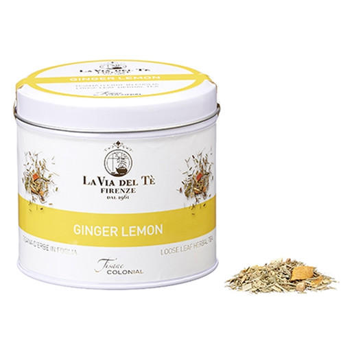 A revitalizing blend. Lively, pleasant herbal tea, an all-day cup.  Among the ingredients, lemon grass, ginger roots, orange peel, lemon and ginger natural flavours.  Lemon grass, ginger roots 25%, orange peel, lemon 2% and ginger 1% natural flavours.