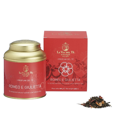Romantic blend of green teas, papaya, strawberry and rose petals with a sweet and fruity fragrance. For dreamers and lovers. Enjoy it iced! Ideal to create long drinks and cocktails.   Green teas, papaya, rose petals, strawberry, flavourings, natural flavourings.