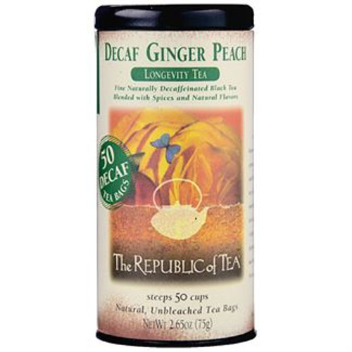 Longevity Tea - This best-selling tea offers the sweet lushness of a fancy peach seasoned with the tingle of spicy ginger. Exceptional over ice. Voted Outstanding Beverage by the National Association of the Specialty Food Trade.