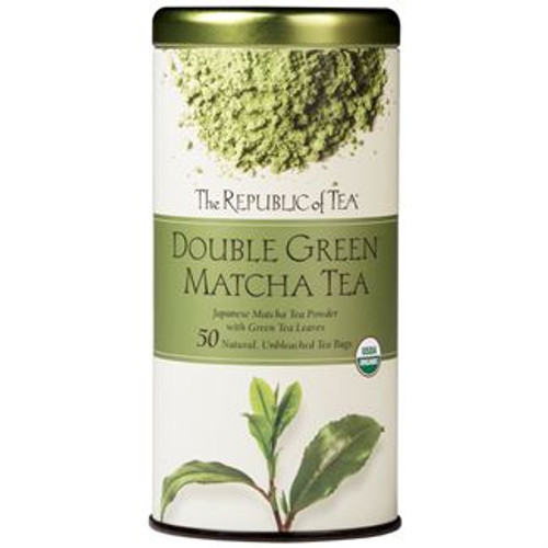 This exquisite organic green tea powder known as matcha was married with fine, organic green leaf tea. We invite you to sip the fresh, springtime-grassy flavor of this tea. This tea's smooth character makes it a good partner with sweet or savory foods.  Organic Double Green Matcha Tea was featured in Men's Health as one of the Top 125 Foods for Men.