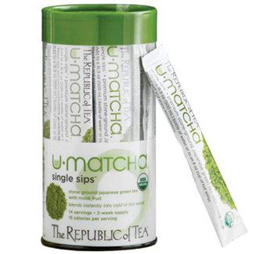 This unique innovation allows Citizens to make premium organic matcha tea easily and conveniently, whether at home or on the go. Featuring a touch of monk fruit and the prebiotic agave inulin, each Single Sip makes a slightly sweetened cup of matcha with just 15 calories.  Add a Single Sip packet directly to a bottle of water for a chilled matcha simply pour, shake and sip! If you prefer a freshly made cup of matcha wherever you are, add a packet to hot water then give it a stir; no need for fancy whisks or frothers. Each recyclable PET canister includes 14 individual Single Sip packets for a two-week supply.