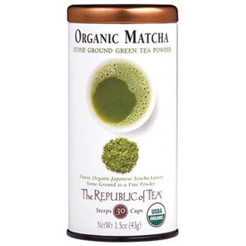 Organic Matcha Tradition ground in stone. This organic shade-grown tea from the tencha leaf is stone ground into a fine powder to be whisked into hot water. Because the whole leaf is consumed, it provides more of the benefits that green tea has to offer. We invite you to sip a smooth cup with no astringency and the fresh, springtime-grassy flavor of this tea.