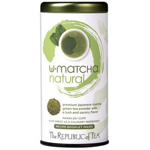 100% Premium Japanese Matcha  Premium Natural U•Matcha™ is unlike regular green tea, these tender, shade-grown leaves are ground to a fine powder creating a rich balance of flavors in baked goods or ice cream. This exceptional tea is abundant in nutrients and has the balanced flavors of what is referred to as umami (literally, 'yummy' in Japanese). Premium Natural U•Matcha™ is great blended into water for sipping, powder and all, or in cooking.  u•matcha™ natural was featured in Women's World magazine.