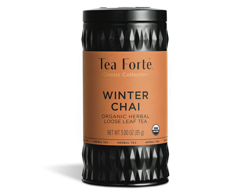 Winter Chai rooibos, exotic cardamom, and sweetly fragrant vanilla.
