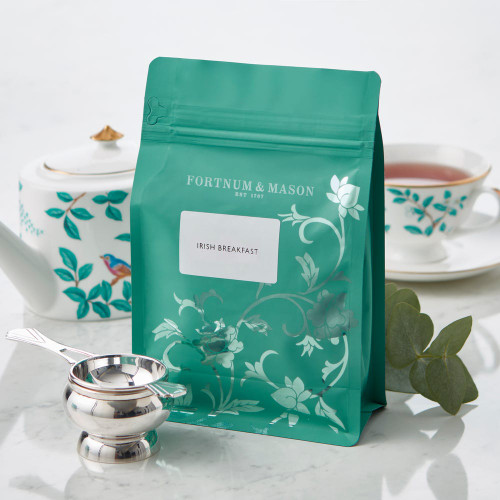 A bracing blend of expertly selected Assam and Kenyan teas; the first provides maltiness, the second adds brightness. A cup of this Fortnum's Irish Breakfast Tea with a splash of milk will give an uplifting start to the top of the morning.  Perfect for topping up your existing Fortnum's tea caddy.