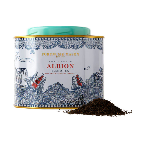 A refreshingly strong everyday brew, Albion Tea is a homage to the story of how tea came to be Britain's favourite drink. Christened after an ancient name for England, Albion represents the epitome and essence of Britain with the name itself predating the creation of Britain in 1707.  In the cup, malty Assam blends with bright Kenyan to create one of our strongest ever teas, making this robust brew perfect for mid-morning sipping.