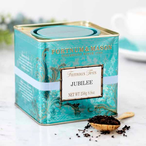 Blending teas from India, Ceylon and China, this noble tea offers mellow sweetness and golden brightness and is truly fit for a queen. Presented in a decorative tin, it will be a lasting memory of the happy and historic occasion.