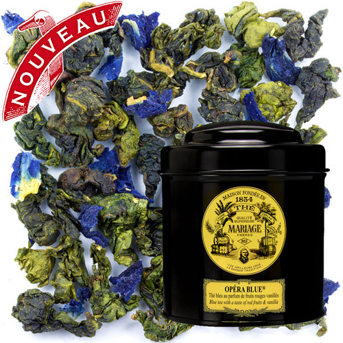OPÉRA BLUE® Blue Tea™ with a taste of  red fruits & vanilla