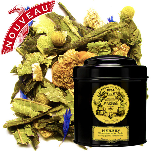 A wonderful green tea, light in theine, garnished with vervain, tea flowers, orange zest, lavender, camomile, tilia and cornflower – soothing and comforting…