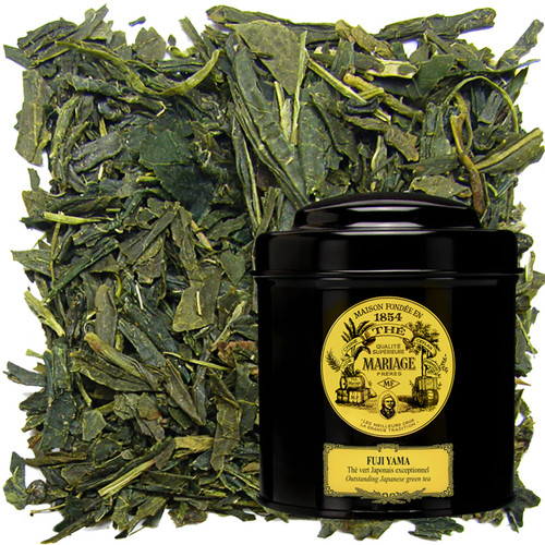 A green tea for connoisseurs, grown near Mount Fuji.   Its fine leaves, grand aroma, and subtle taste indicate its outstanding quality.