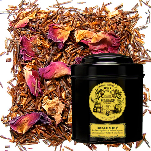 Russian blend red tea made from rooibos from the plateaus of South Africa.   Notes of red and black berries merge with the mild, sweet fragrance of the tea, brought alive by bergamot with its sharp, floral, spicy accents, and caressed by the fresh touch of a fine variety of citrus fruit-lemon, lime, orange, grapefruit.…