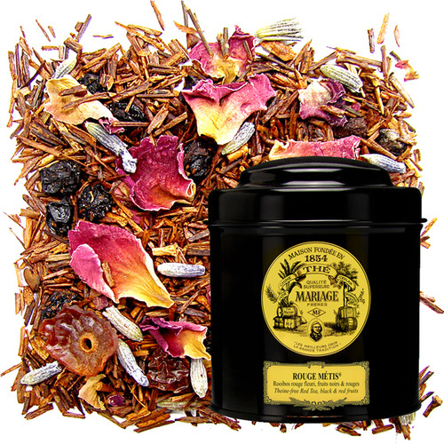 This 'cross-breed', as its name implies, is a fine hybrid of red rooibos with fruit, citrus fruit, spices, and flowers.   100% theine-free.