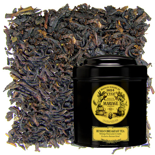 This exclusive morning blend is based on a black India tea. Its coppery cup is round and malty in the mouth, with a pronounced note of citrus fruit.   A wonderfully fresh tea that awakens the palate.   Can take a drop of milk.