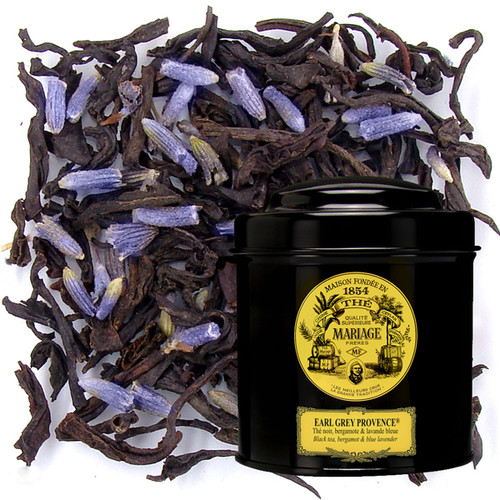 The zesty and lightly peppered flavour of bergamot lends itself perfectly to black tea.    Addition of wild lavender gives a touch of warmth and mystery to the cup.   Its round and ample body feels silky on the palate, energising all the senses.