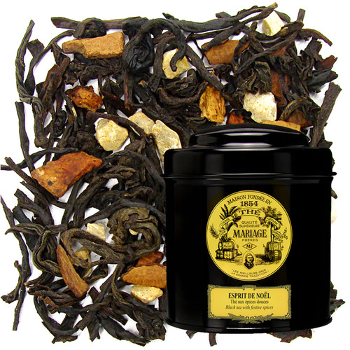A festive tea blended specially for the occasion.   Flavoured with mild Christmas spices, it includes pieces of orange zest and vanilla.