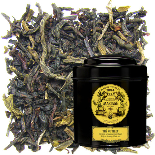 Black China tea scented with vanilla, jasmine, mandarin orange, rose, and bergamot.   Very refined.
