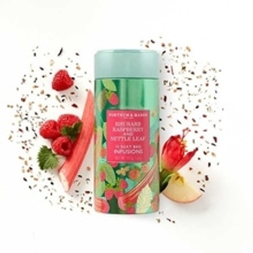 Beautifully sharp then blissfully mellow to taste, this bright red Rhubarb, Raspberry & Nettle Infusions Tea is superbly warming and fruity and redolent of rhubarb crumble. A refreshing and unique tipple for true infusion lovers.  Contains 15 Silky Tea Bags