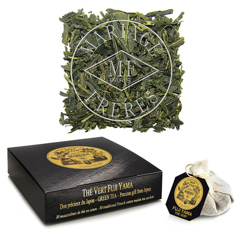 A green tea for connoisseurs, grown near Mount Fuji.   Its fine leaves, grand aroma, and subtle taste indicate its outstanding quality