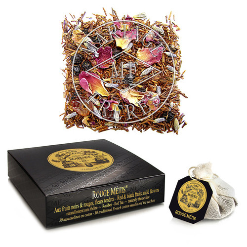 This 'cross-breed', as its name implies, is a fine hybrid of red tea with fruit, citrus fruit, spices, and flowers.  100% theine-free.