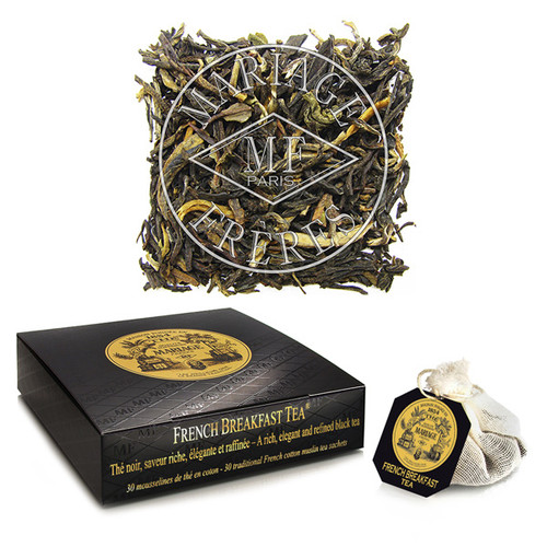 This perfect marriage of great and elegant black teas produces a rounded taste of malt and chocolate.   Its highly developed flavour is both powerful and refined.   A felicitous blend in the best tradition of the French art of Tea. With or without milk, perfect with a continental breakfast.