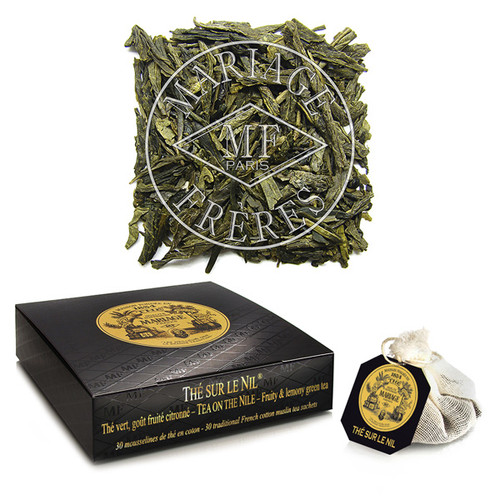 Citrus fruit from foreign lands and refined spices wonderfully scent this fine green tea.